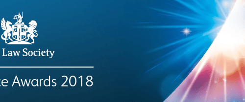 Shortlisted for Prestigious Law Society Excellence Awards 2018